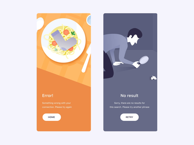 Empty States Animations vector mobile iphone illustration motiongraphics ux ui design motion-design after-effects ui8 motion animation