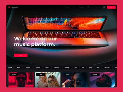 Holo Design System Website music app motiongraphics ux ui design motion-design ui8 after-effects motion animation