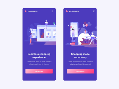 Ecommerce Animations vector illustration iphone motiongraphics design motion-design after-effects ui8 motion animation