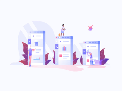 Ecommerce Animations II vector illustration motiongraphics design motion-design after-effects ui8 motion animation