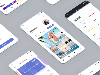 UI Kits Templates II ux ui mobile iphone design motion-design ui8 after-effects motion animation
