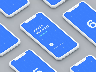 Simple Mockups Animated mobile iphone motiongraphics ux ui design motion-design after-effects ui8 motion animation