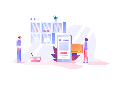 Ecommerce Animations III vector illustration design motion-design after-effects ui8 motion animation