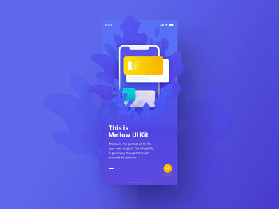 Mellow Walkthroughs icons mobile vector iphone illustration motiongraphics ux ui design after-effects motion-design ui8 motion animation