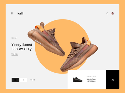 Kalli UI Kit shoes shopping motiongraphics ux ui design motion-design ui8 after-effects motion animation