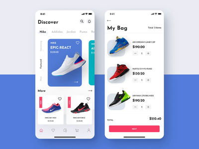Bright App UI Kit e-commerce app sport app sport mobile iphone illustration motiongraphics ux ui design motion-design after-effects motion ui8 animation