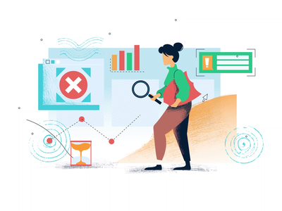 Search for Errors vector illustration motiongraphics design motion-design ui8 after-effects motion animation
