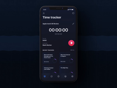 Timetracker iOS UI Kit ux ui design motion-design ui8 after-effects motion animation