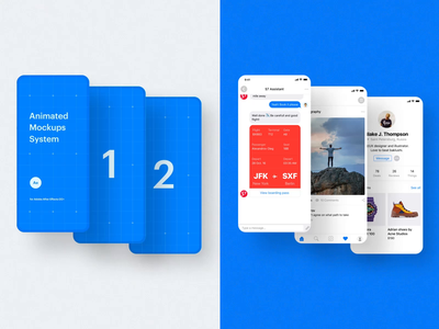 Animated Mockup System I mockups ux ui design motion-design ui8 after-effects motion animation