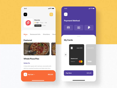 Nibble iOS UI Kit III food app iphone motiongraphics ux ui8 ui design motion-design after-effects motion animation