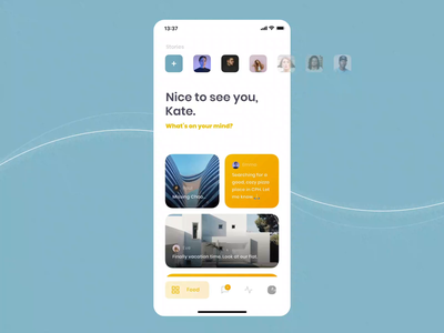 Chummy iOS UI Kit I mobile motiongraphics ux ui design motion-design ui8 after-effects motion animation