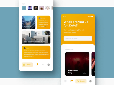Chummy UI Kit III mobile motiongraphics ux ui design motion-design ui8 after-effects motion animation