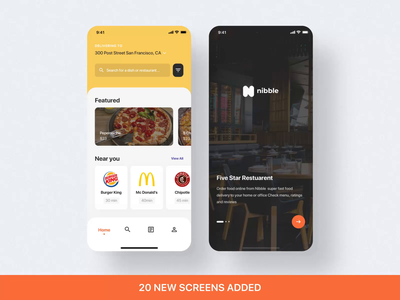 Nibble UI Kit. Updating mobile motiongraphics ux ui design motion-design ui8 after-effects motion animation