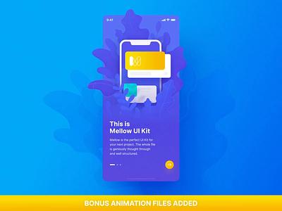 Mellow iOS UI Kit. Bonus mobile motiongraphics ux ui ui8 design motion-design after-effects motion animation