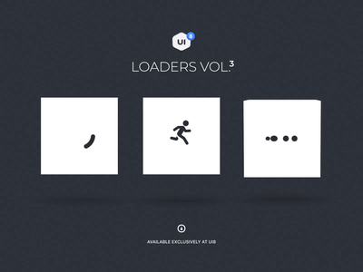 Loaders Vol3. Cubes ui ux design motion-design ui8 after-effects motion animation