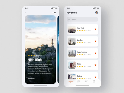 Nomad iOS UI Kit / Favorite Places