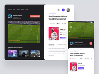 Glitch Gaming Platform UI Kit III