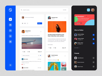 Social Dashboards UI Kit I