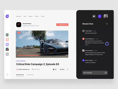 Glitch Gaming Platform UI Kit V