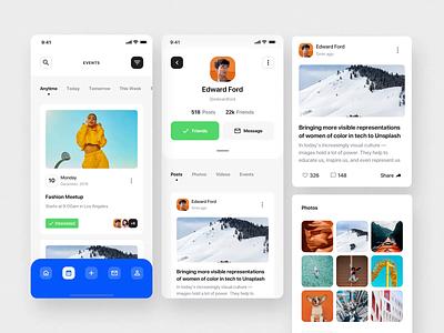 Social Dashboards UI Kit II social social app mobile design motiongraphics ux ui motion-design ui8 after-effects motion animation