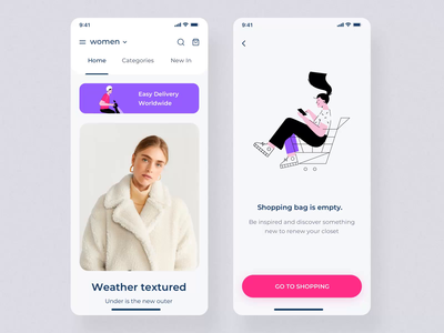 Fashion App Designs Themes Templates And Downloadable Graphic Elements On Dribbble