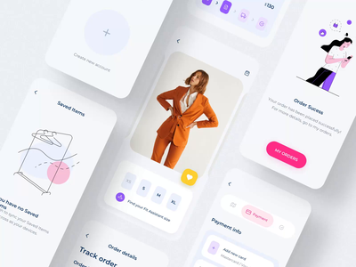 Clother UI mobile KIT III shopping app iphone mobile ui ux design motion-design ui8 after-effects motion animation