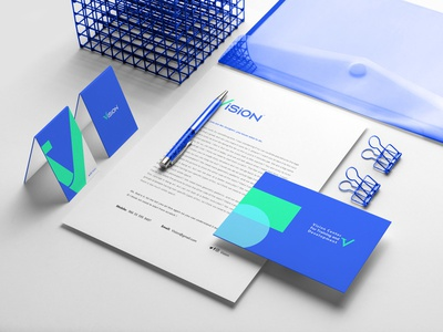 Vision Brand Identity brochure typography branding mockup portfolio brand letterhead freebie free business card presentation identity logo showcase mockupcloud stationery download template psd mockup branding