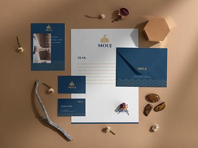 Mouj Brand Identity brochure typography branding mockup portfolio brand letterhead freebie free business card presentation identity logo showcase mockupcloud stationery download template psd mockup branding