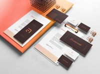 alancell Brand Identity brochure typography branding mockup portfolio brand letterhead freebie free business card presentation identity logo showcase mockupcloud stationery download template psd mockup branding