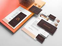alancell Brand Identity brochure typography branding mockup portfolio brand letterhead freebie free business card presentation identity logo showcase mockupcloud stationery download template psd mockup branding