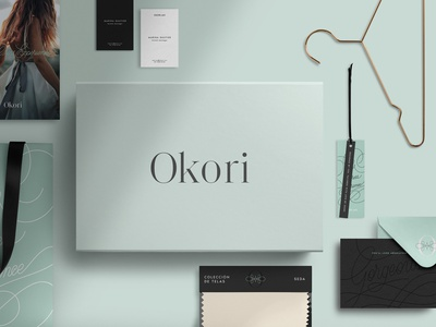 Okori. The Dress Experience brochure typography branding mockup portfolio brand letterhead freebie free business card presentation identity logo showcase mockupcloud stationery download template psd mockup branding
