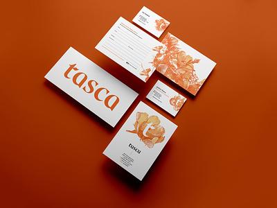 Tasca Brand Identity brochure typography branding mockup portfolio brand letterhead freebie free business card presentation identity logo showcase mockupcloud stationery download template psd mockup branding