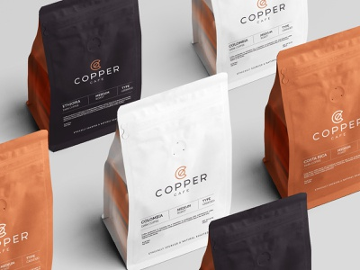 Copper / Coffee Shop Branding coffee house blend brew coffee packaging brand letterhead freebie free business card presentation identity logo mockupcloud stationery download template psd mockup branding