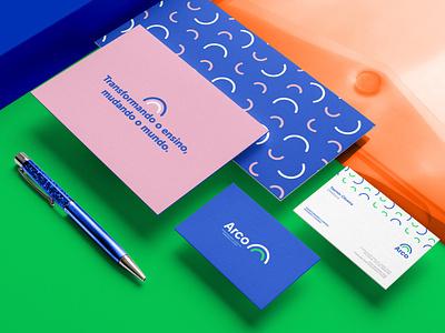 Colégio ARCO Brand Identity brochure typography branding mockup portfolio brand letterhead freebie free business card presentation identity logo showcase mockupcloud stationery download template psd mockup branding