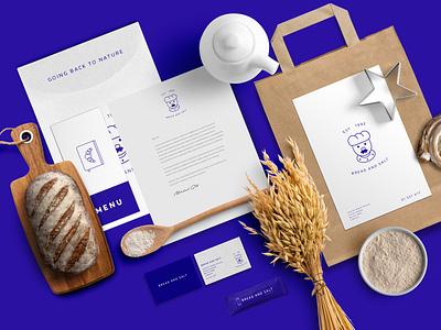 Bread and Salt Brand Identity brochure typography branding mockup portfolio brand letterhead freebie free business card presentation identity logo showcase mockupcloud stationery download template psd mockup branding