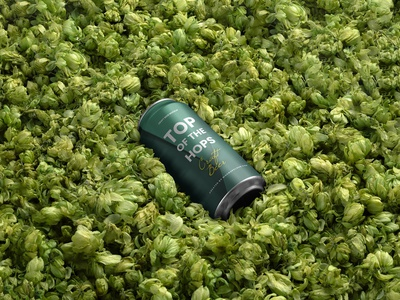 Free Craft Beer Can Mockup branding mockup portfolio brand freebie liquid presentation identity showcase mockupcloud craft hops can packaging beer download template psd mockup branding