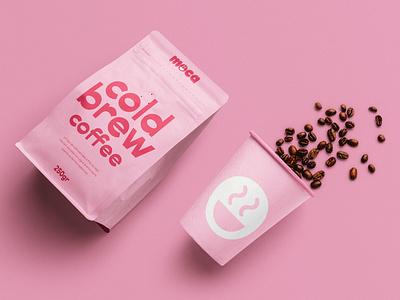Moca® Cold Brew Coffee Branding brochure typography branding mockup portfolio brand letterhead freebie free business card presentation identity logo showcase mockupcloud stationery download template psd mockup branding