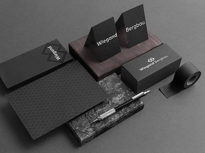 Wiegand Bergbau. Branding logo illustration identity showcase brand psd branding mockup template design brochure