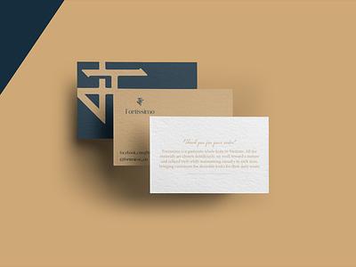 Fortissimo Fashion Brand logo illustration design identity showcase brand psd branding template mockup