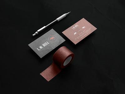 LM Bull Branding logo illustration design identity showcase brand psd branding template mockup
