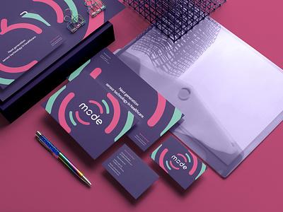 Mode Sensors Branding logo illustration design identity showcase brand psd branding template mockup