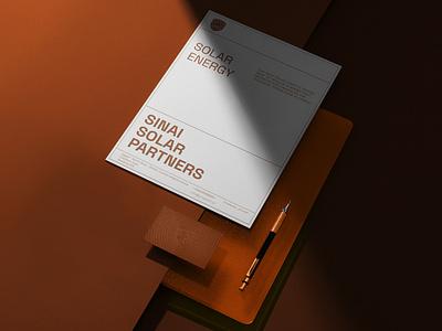 Sinai Solar Partners Brand Identity mockupcloud graphic design logo illustration design identity showcase brand psd branding template mockup