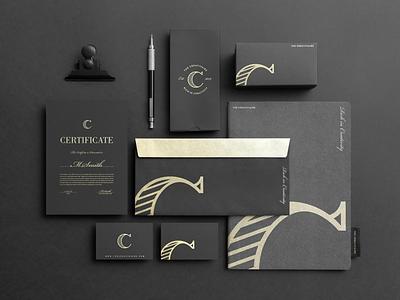 The Creativaire Brand Identity mockupcloud graphic design logo illustration design identity showcase brand psd branding template mockup