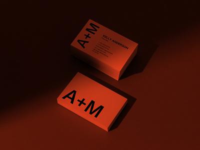 A+M Agency Brand Identity freebie free download mockupcloud business cards stationery graphic design logo illustration design identity showcase brand psd branding template mockup