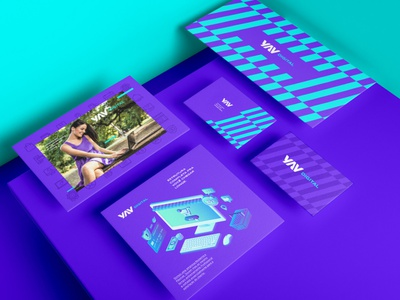 YAV Digital Brand Identity business card assets stationery free mockup download freebie free mockupcloud graphic design logo illustration design identity showcase brand psd branding template mockup