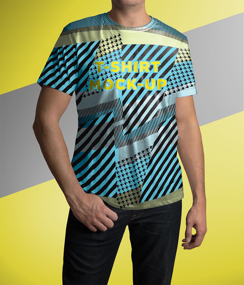 01 1 crew neck tshirt mockup