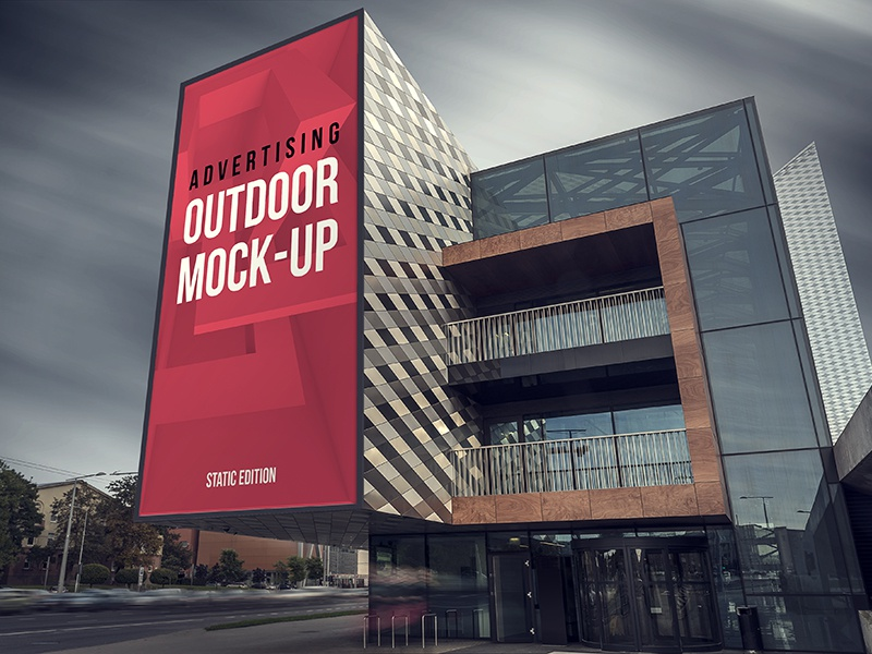 Outdoor Advertising Mock-up outdoor mockup mock-up signage billboard mock up billboard animation mockup animation mock-up animation animated advertising mock up advertising
