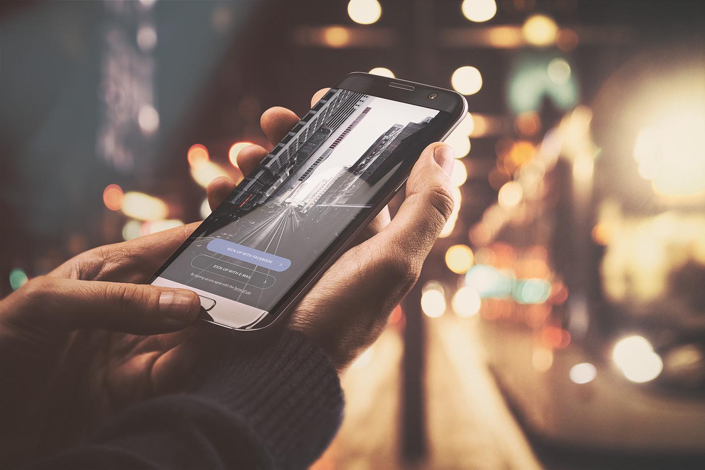 01 android app mockup urban edition