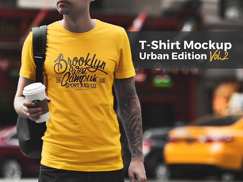 new t shirt mockup urban edition vol 2 by mockup cloud. Black Bedroom Furniture Sets. Home Design Ideas