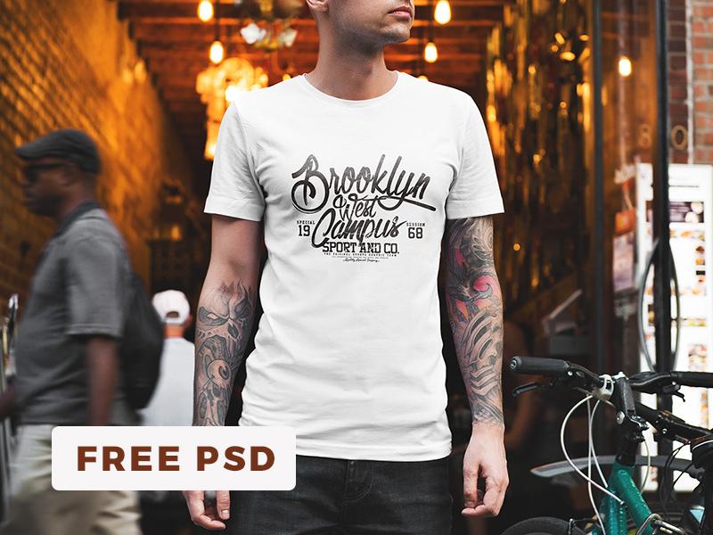 👚 Free T-Shirt Mockup / Urban Edition